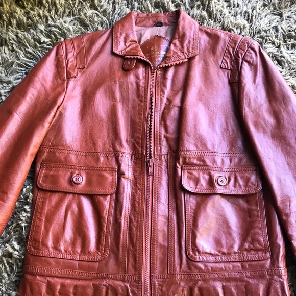 f151e25ad Vintage Toujours Russet Leather Motor Jacket